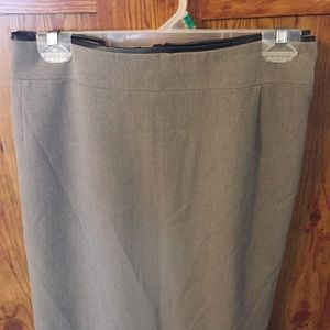 Kim Rogers Skirts - Kim Rogers Plus sized 24W Tan skirt